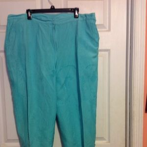 Pair Dressy / Casual Turquoise RUBY ROAD Capris